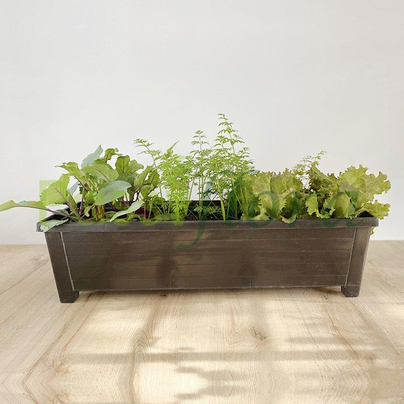 Jardinera Plástica Madeira